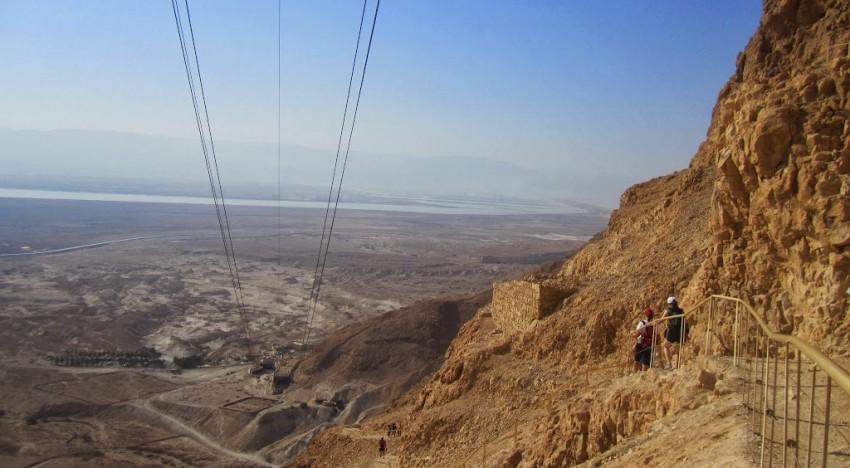Masada: The Hike Down on the Never Ending Snake Path