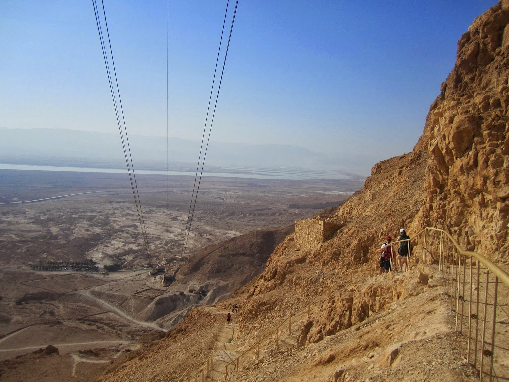 Masada: The Hike Down on the Never Ending Snake Path