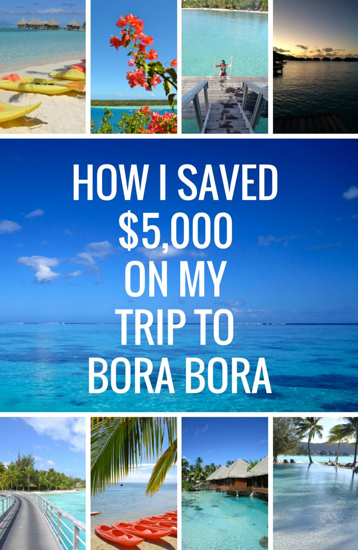how to save money in bora bora