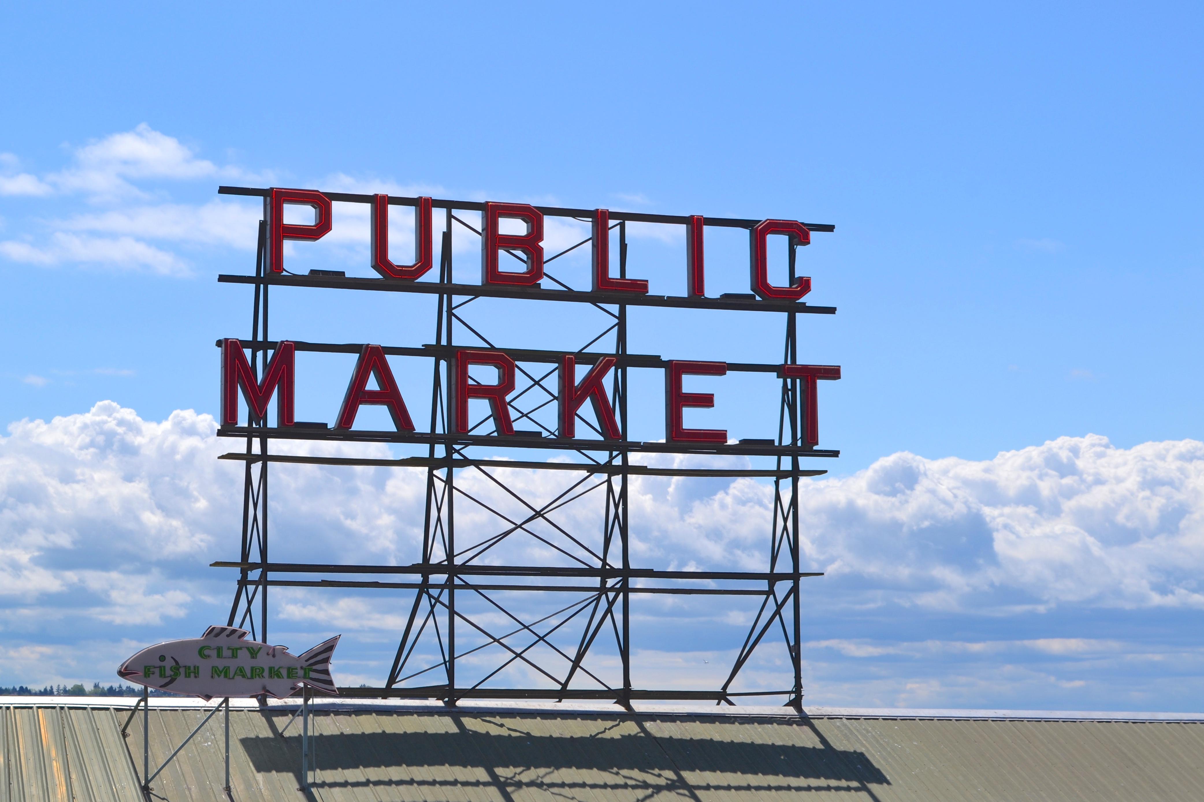 public market sign seattle