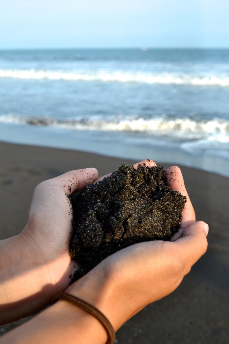 black sand beach guatemala