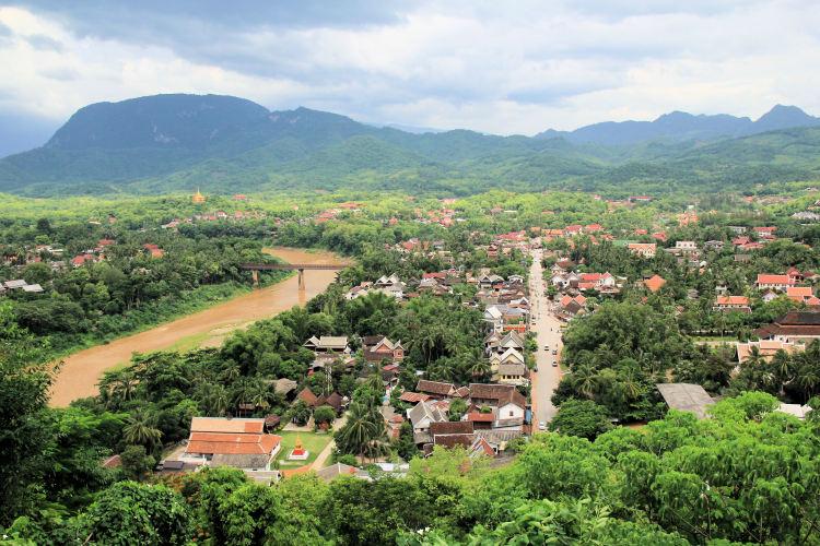 things to do in luang prabang: View of Luang Prabang form Mount Phousi