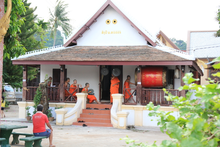 Things to do in Luang Prabang: chat with some monks