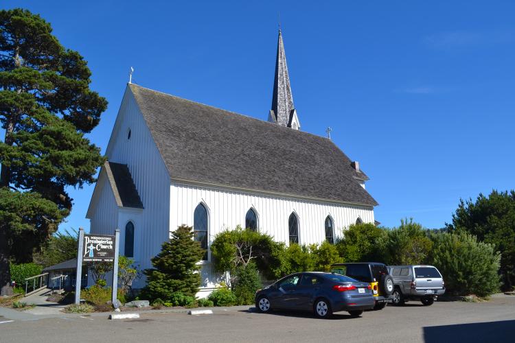 downtown mendocino church