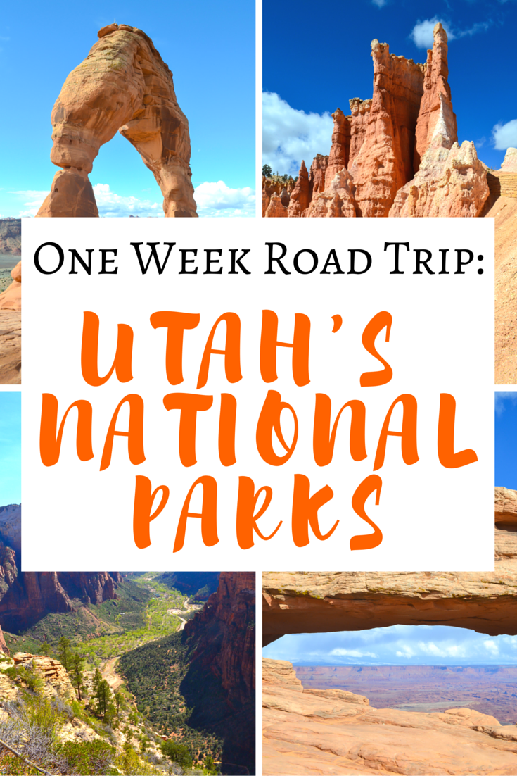 A One Week Roadtrip To All 5 of Utah's National Parks >> what to see in each one! Great Pin! Save for later! | www.apassionandapassport.com