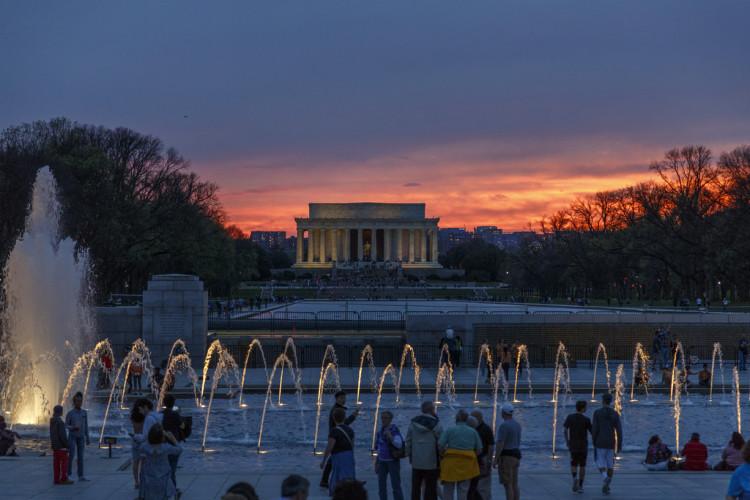 sunset in Washington DC