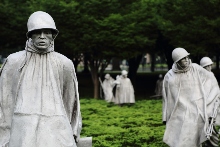 Ghost Soldiers The Korean War Memorial, Washington, DC.