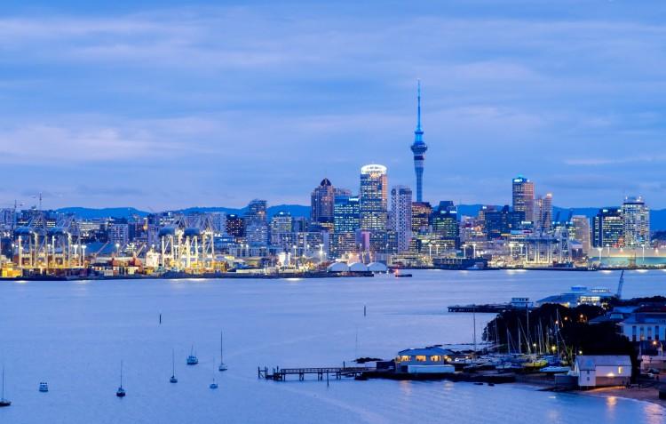 Auckland blue hour