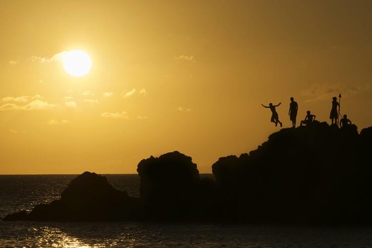 Black Rock Beach Cliff Dive Ceremony