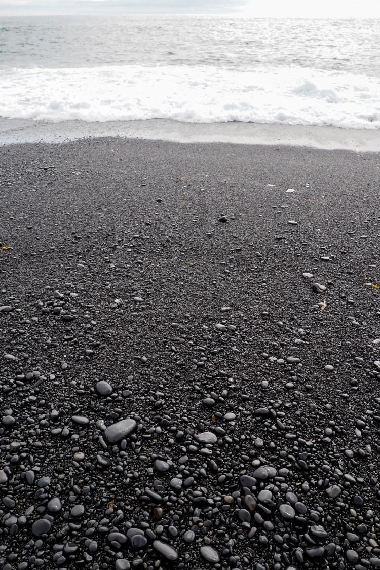 Stops on the Snaefellsness Peninsula Iceland: Djúpalónssandur Black Pebbled Beach