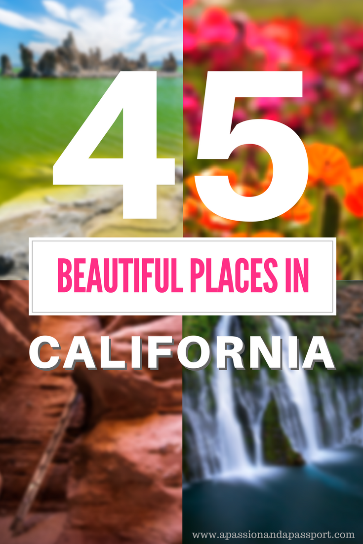 50 Most Beautiful Places to Visit in California >> instant itinerary inspiration!