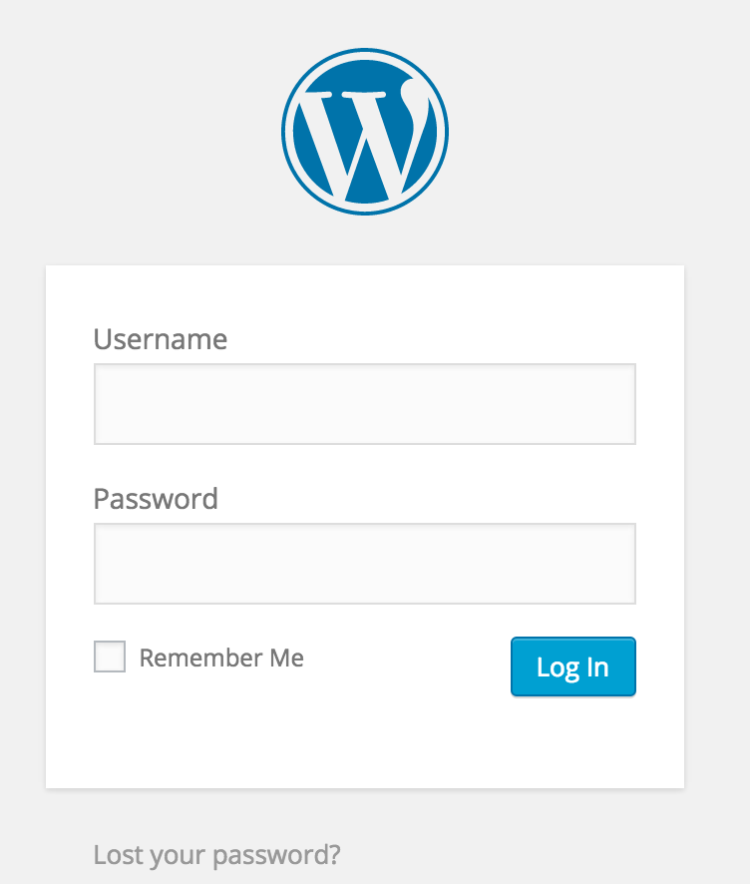 how to start a blog logging into wordpress