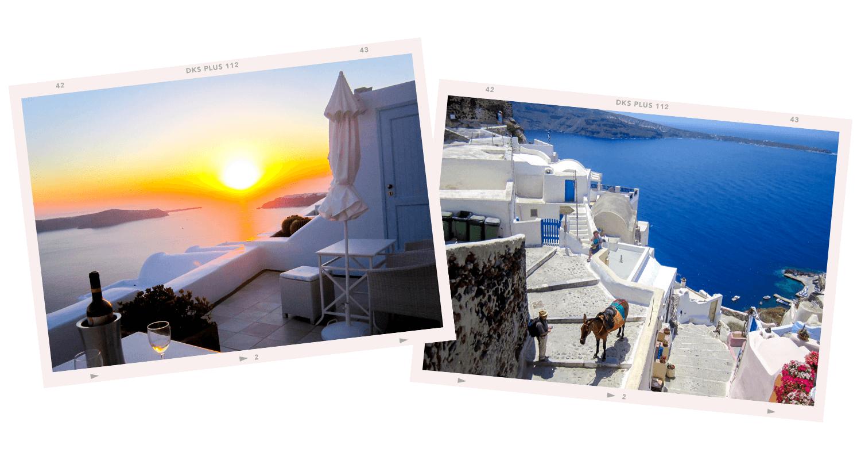 greece horizontal collage