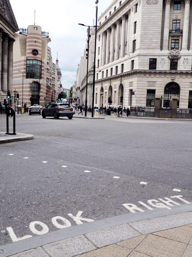 One day in London itinerary -- crosswalk