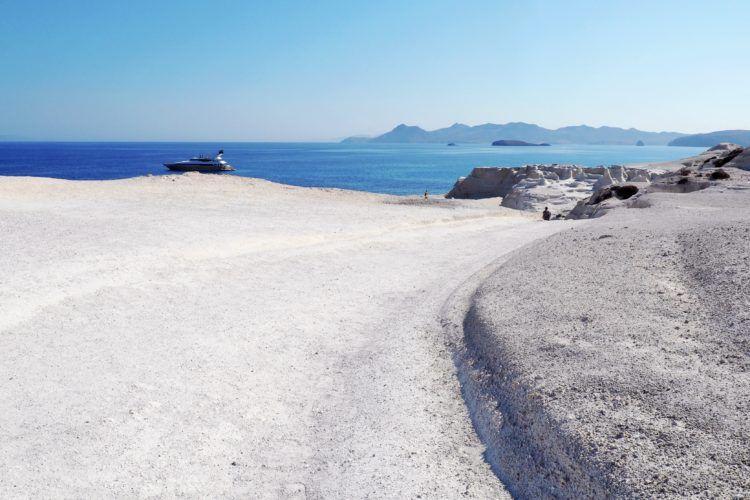 Sarakiniko Beach in Milos, the most unique beach in all of Greece